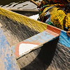 Rustic colours of West Africa adorn a boat in Grand Popo, Benin.