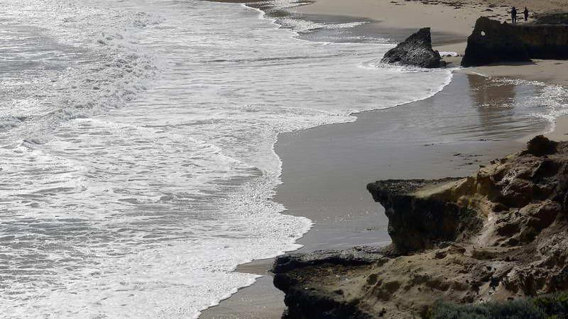 Rocky beach along the Great Ocean Road, Victoria, Australia
