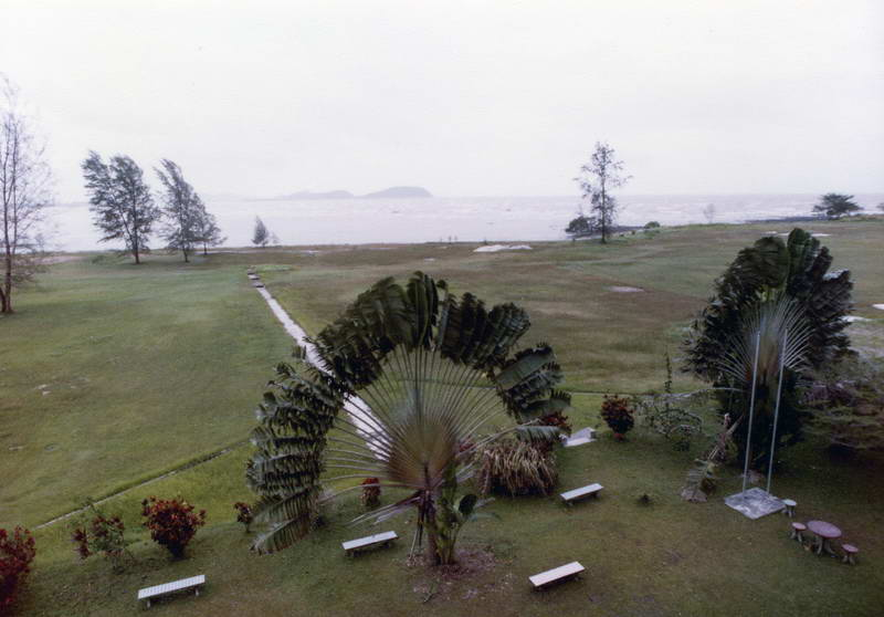 Classic sea view from the Mersing Rest House; (where's Haley's comet?!) in Mersing Malaysia.