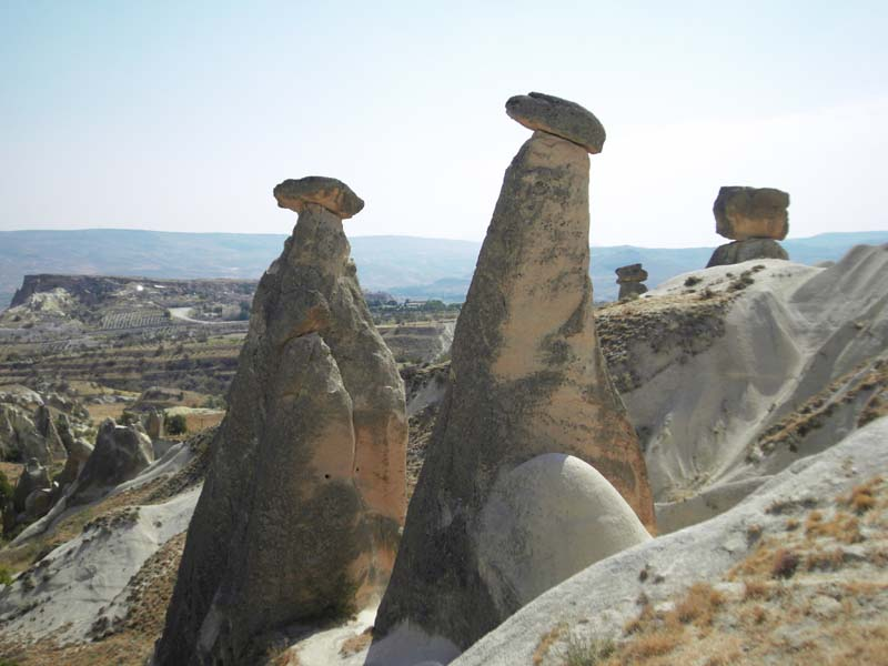 Natural rock eroded monuments in Kapydokia Turkey.