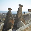 Natural rock eroded monuments in Kapydokia Turkey.