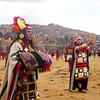 The high priests parade amongst the dancers at the ancient rituals at Sacsayhuanman during the Inti Raymi celebration in Cuzco, Peru.