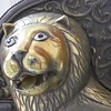 Detail of a lion embellishment on a royal carriage at the palace in in Jodphur, Rajastan India.