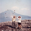 Flip & Fran are caught unawares by a freak explosion of rocks on the top of Anak Anak Krakatoa