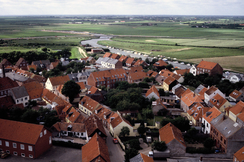 View from the Rathus tower in a picturesque village in Jutland, Denmark
