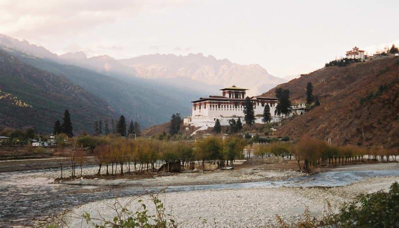 Thimpu, capital of Bhutan.