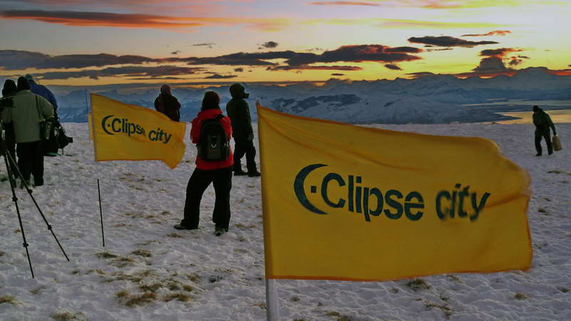 """""""Eclipse City"""" installation for the total solar eclipse of 11 July 2010, atop the Cerro Huyliche plateau in Patagonia, Argentina"""