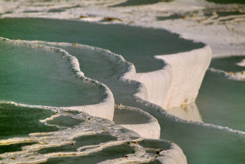 Calcium terraced pools in Paumukkale in central Turkey.
