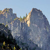High sheer canyon rock faces in Yosemite National park, California