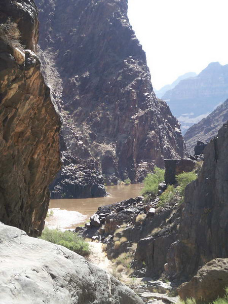 View from a side gorge we explored out to the Colorado river on our Grand Canyon rafting trip