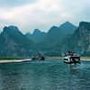 On the Li river near Guilin, China