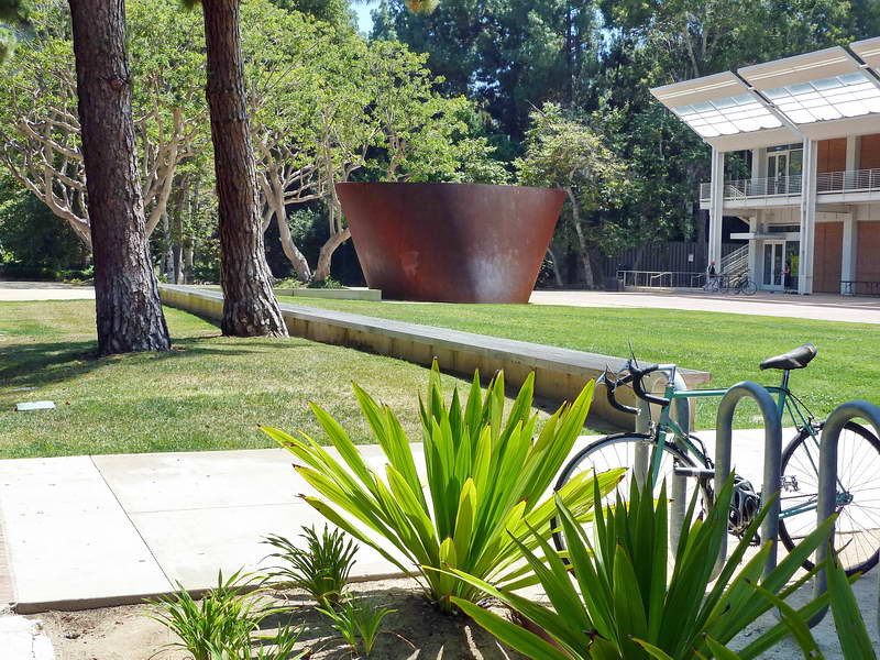 Richard Serra sculpture on UCLA campus in Los Angeles, California