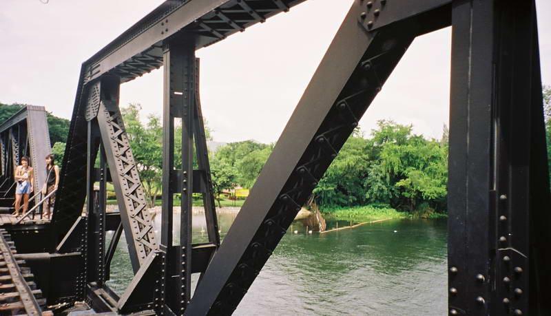 Bridge over the river Kwai, Kanchanaburi Thailand.