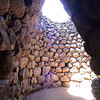 Inside of a typical nuraghe in Sardinia, Italy.
