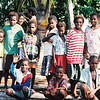 Friendly villages greet the boat on the upper Sepik, Papua New Guinea