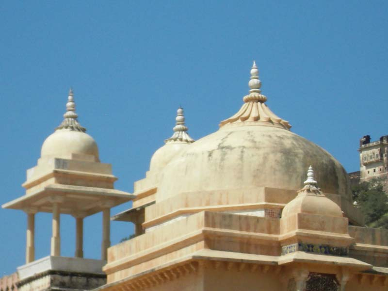 Roof detail of the palace in Jaipur, Rajastan India.