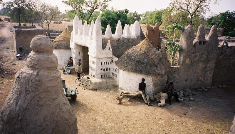 Picturesque small village in rural Burkina Faso.