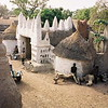Picturesque small village in rural Burkina Faso.