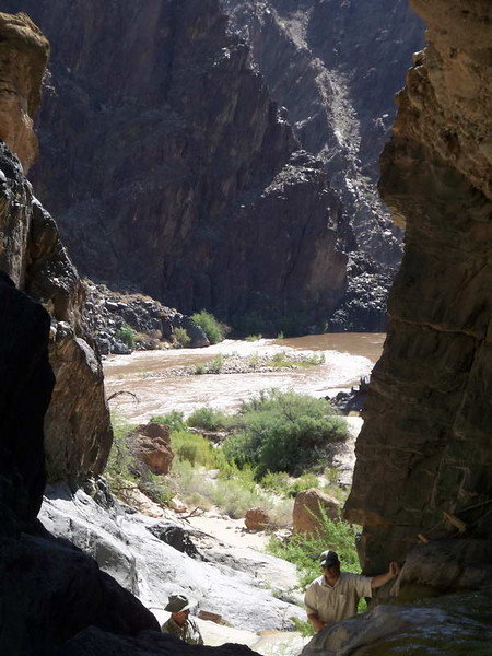 View from a side gorge we explored out to the Colorado river on our Grand Canyon rafting trip.
