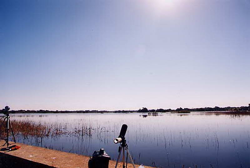 Waiting for the eclipse at Chaminuka outside of Lusaka, Zambia.