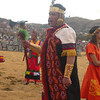 A field general commands all during the Inti Raymi celebrations in Sacsayhuanman near Cuzco Peru.