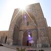 Entrance to the madrassah in Bukhara, Uzbekistan.