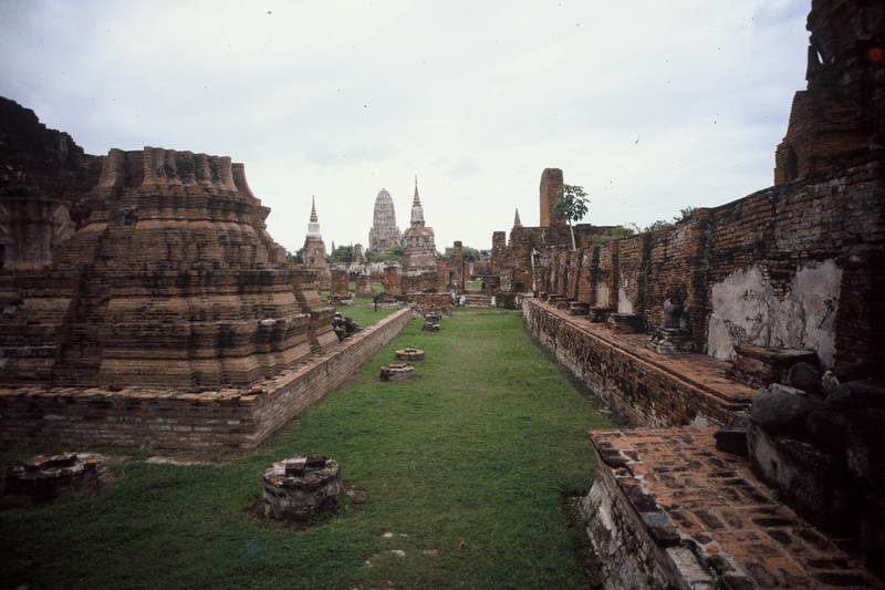 Historic relics in Thailand's ancient capital; Ayuthaya.