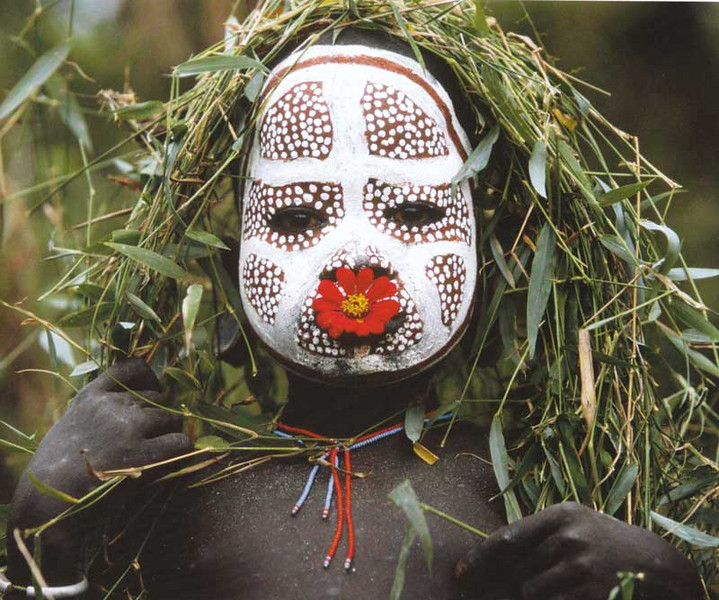 Decorated peoples of the Omo Valley in Ethiopia.