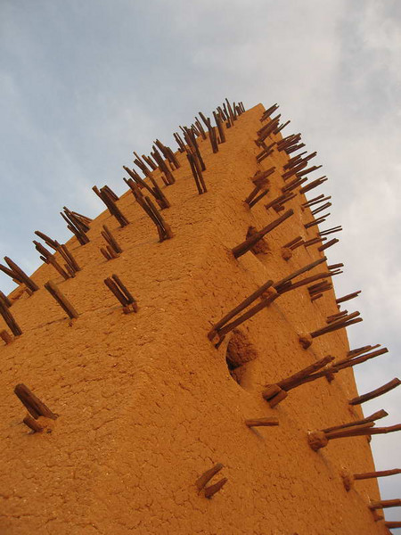 The tower of the traditional Friday mosque in Agadez,Niger West Africa