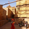 Street urchin in fancy dress in Jaiselmer Rajastan, India.