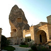 Stone houses and Cave hotel in Goreme, Kapydokia Turkey.