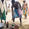 Ingesting crushed glass voodoun ritual in Grand Popo, Benin.