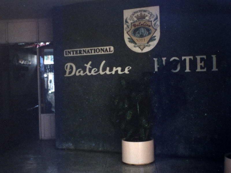 The antithesis of the Prime Meridien; The International Date Line Hotel in Nukuʻalofa Tonga.