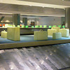 Illuminated suitcase art installation Buenos Aires, Argentina