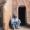 Chef of the Gurunsi village where we camped for the night, in rural Burkina Faso.