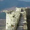 Ramparts on Krak de Chevaliers Crusaders' castle in Syria.