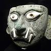 Peruvian masque in the Larco museum in Lima Peru.