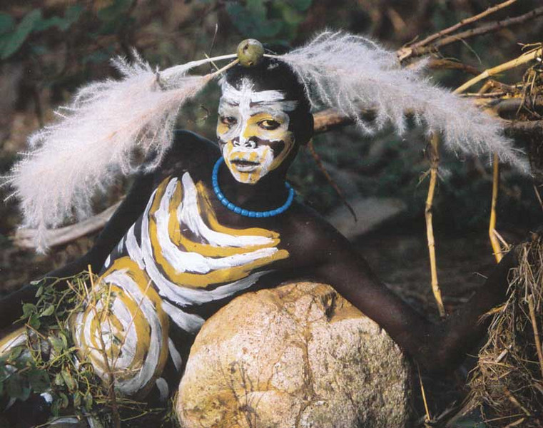 People of the Omo valley, Ethiopia.