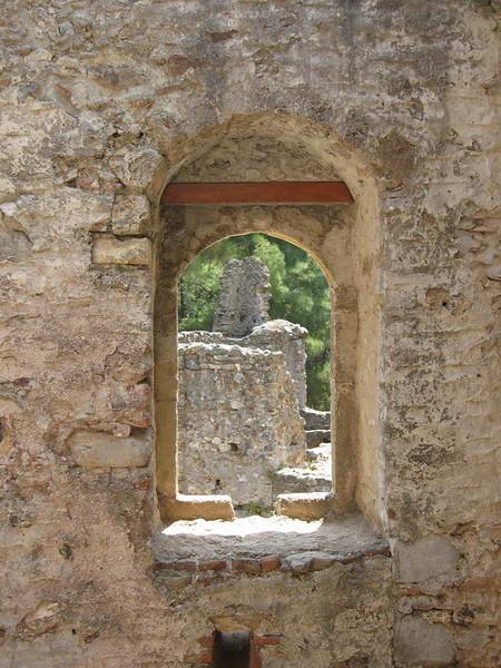 """Picture"" window in the Peloponnese peninsula,  Greece."