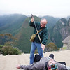 "Stephen sacrifices Flip for ""the full experience"" at Machu Picchu, Peru."
