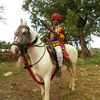 A horseman in full regalia at Chittaugaur, Rajastan India.