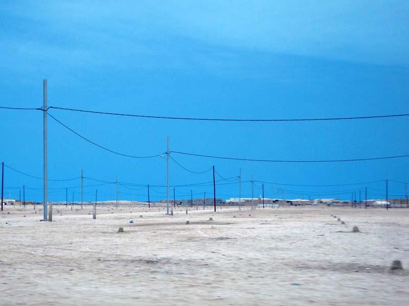 The purest colours enrich the landscape outside of Nouakchott Mauritania.