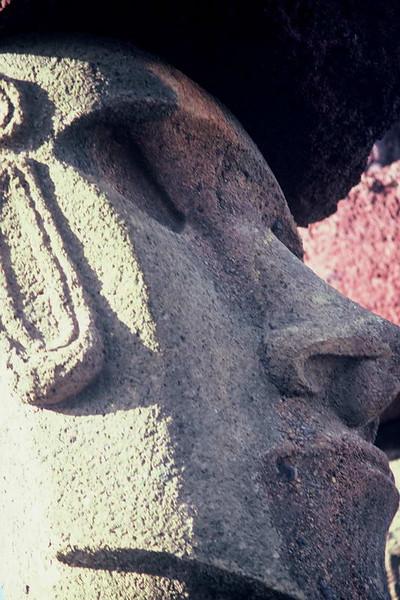 Moai on Rapa Nui, Easter Island, Chile.