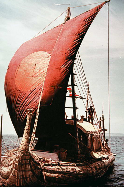 Thor Heyerdahl's pride on display in Tenerife, Canary Islands, Spain.