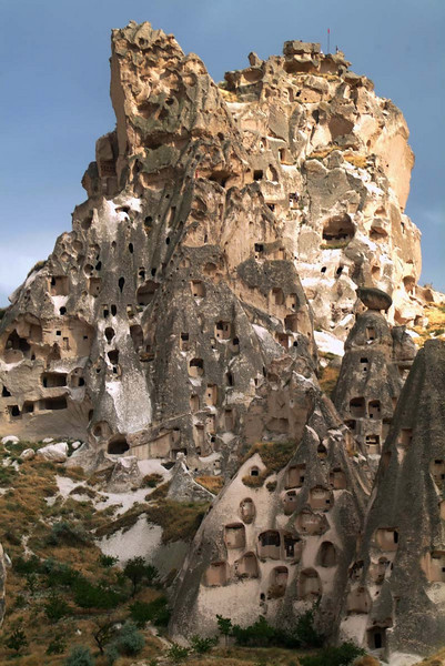 Uchisar castle in Kapydokia Turkey.