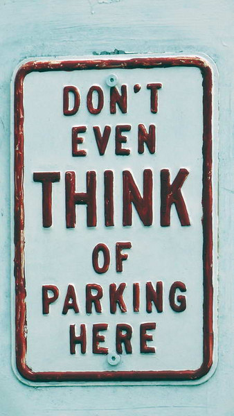 Practical parking sign in Coney Island, New York
