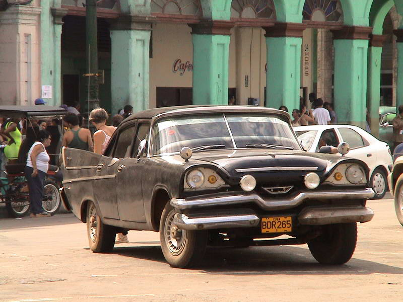 Ancient auto ply the streets of Havana Cuba.