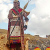 The King surveys his realm during the Inti Raymi celebrations in Sacsayhuanman near Cuzco Peru.