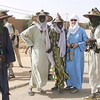Penny poses with Fulani day-merchants on the streets of Agadez, Niger, West Africa.