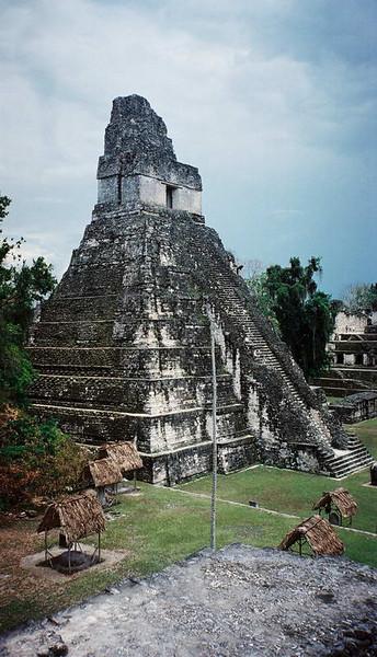 The Jaguar temple at TIkal Guatemala.